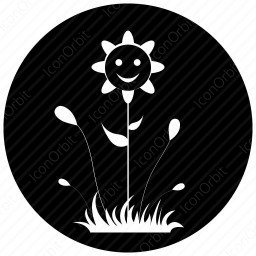 Happy Smiley Flower icon
